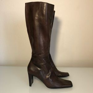 Nine West women's retro boots brown size 9 leather